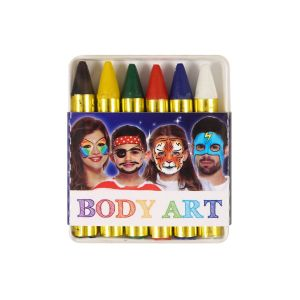 Face & Body Art Crayons Painting Paints Make-Up - Pack of 6 Colours